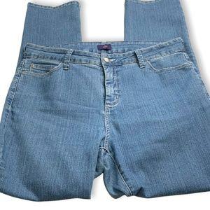 NYDJ Lift Tuck Technology Straight Leg Jeans sz 14